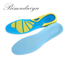 BIMUDUIYU Sports Insoles Women Men Shoes Pad Silicone Damping Soft Insoles Breathable Absorb Sweat Mountaineer Shoe Inserts(China)