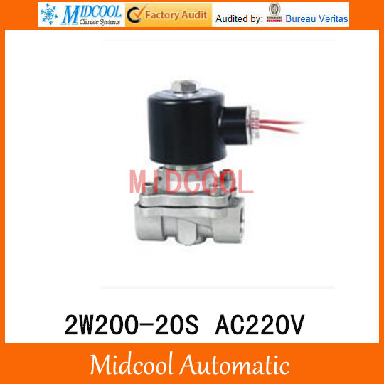2W200-20S AC220V port 3/4 direct-acting diaphragm normally closed solenoid valve Two-position two-way <br>