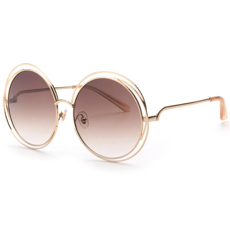 New Colors Arrived Elegant Round Wire Frame Coating Glasses Eyewear Hot Vintage Fashion Sunglasses Women Brand Designer UV400<br><br>Aliexpress