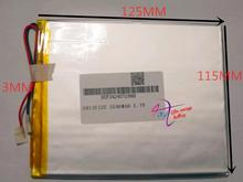 best battery brand 30115125 3.7V lithium polymer battery 3MM wide 115MM 125MM 5500MAH mobile power Battery Tablet PC