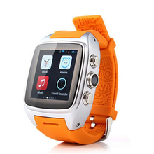 "X01 smart watch MTK 6572 Dual core 1.54"" screen 512MB Ram 4GB Rom sim card Bluetooth Android 5.1 3G WIFI Camera GPS(China)"