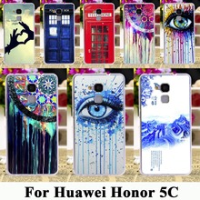 "Soft TPU Plastic Rushed Cases For Huawei Honor 5C GT3 Honor 7 Lite Honor5C Honor7 Lite 5.2"" Dreamcatcher Telephone Booth Letters"