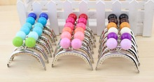 18pcs/set  DIY 8cm Shiny Silver Candy hasp Metal Purse Frame Handle for Bag Sewing Craft  wholesale free shipping