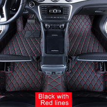Car Floor Mats Case for Toyota Tundra Customized Auto 3D Carpets Custom-fit Foot Liner Mat Car Rugs  BLACK