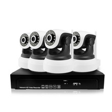 4CH 960P 1.3MP IP Camera PTZ System Pan Rotate CCTV Outdoor Security HD Video Network P2P Surveillance Audio 8CH NVR Camera kit