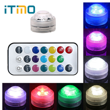 Submersible LED 22Keys Remote Control RGB Paper Lantern Light 3 LED Bulbs Home Decoration Holiday Lighting Tea Light Waterproof