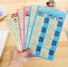 6Pcs/Pack Creative Year 2017 Mini Calendar Stickers Decorative Diary Stickers Index Lable Sticker DIY Planner Bookmark Sticker
