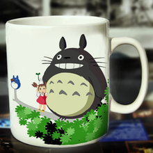 New Totoro Ceramic Coffee Mug White Color Or Color Changed Cup Tree Park ---Loveful