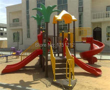 CE Certificated Kids Playground Equipment Galvanzied Steel Anti-rust Kindergarten Colourful Outdoor Combined Slide