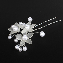 60 PCS Handmade Bride Hair Accessories Elegant Flower Pearl Bridal Hair Pins Clip White Wedding Hairpin Bridesmaid Hair Jewelry(China)