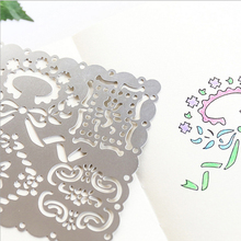 Creative Fashion Flower Multifunctional Hollow Lace Ruler Drawing Graffiti Template Ruler Painting Board DIY Gift Stationery