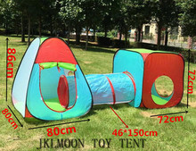 3 In 1 Big Size Foldable Children Outdoor Toys House/Portable Tunnel Type Toy Tent for Kids/Novetly Gift For Baby Free Shipping