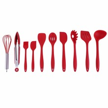 10Pcs/Set Home Kitchen Silicone Cooking Utensil Set High Temperature Resistant Kitchen Tool Set Cooking Tools(China)