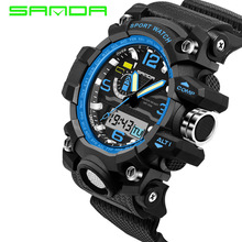 Mens New Arrival Rushed Watches 2017 Sanda Fashion Watch Men G Style Waterproof Sports Military Shock Luxury Analog Digital(China)