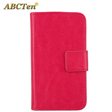 ABCTen Book-Style Flip Cell Phone PU Leather Wallet Cards Cover Pouch Protector Case For Gigaset GS160 5''(China)