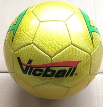 2016PVC soccer ball size 5 training balls OEM Golden Color(China)
