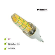 G9 LED Bulb 110/220V Constant Current No Flicker Stable Driver COB Chip ABS cover Dimmable G4 E14 Perfect Tiny Corn LED Light