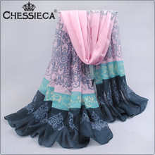 CHESSIECA 2016 Oversized Cotton Voile Scarves Print Scarf Long Muslim Hijab Sunscreen Cape Muslim Hijab Echarpes Foulards Femme