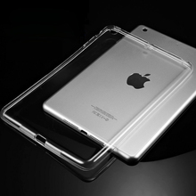 Silicon Case For iPad Air 2 Air 1 Clear Transparent Case For iPad 2 3 For iPad 4 Mini Mini 4 Soft TPU Back Cover Tablet Case(China)