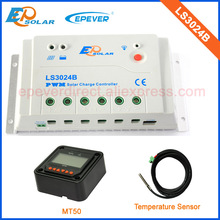 high quality 30A 30amp solar power controller add accessories black MT50+with temperature sensor PWM LS3024B(China)