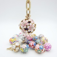 Hot Items Various Pretty Colorful Flowers DIY Locket Diffuser Jewelry Chime Belly Ball Pregnant Women Necklace(China)