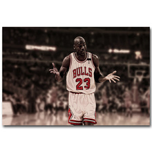 Michael Jordan Basketball Art Silk Fabric Poster Print 13x20 24x36 inch Sport Pictures for Living Room Wall Decor 048(China)