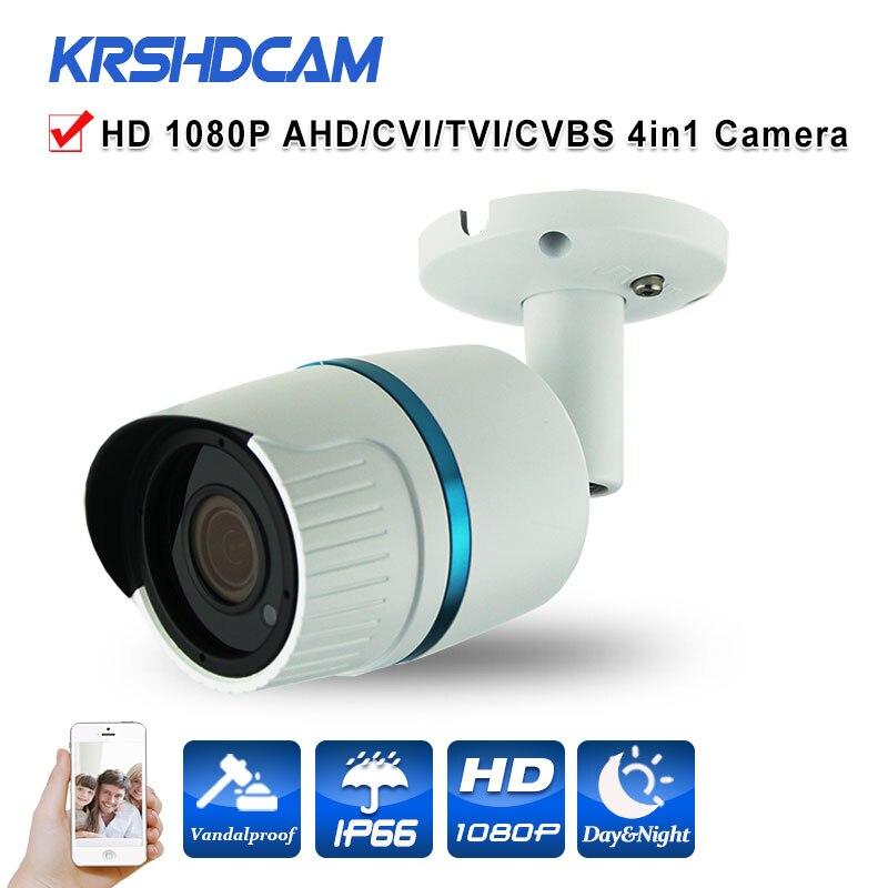 1080P 2.0MP AHD/TVI/CVI/CVBS CCTV camera 4 in 1 Cameras sony imx322 sensor outdoor waterproof security cameras de seguranca<br>