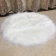 Muzzi faux fur Sheepskin Chair Cover Seat Pad Soft Carpet Hairy Plain Skin Fur Plain Fluffy Area Rugs Bedroom Faux carpet(China)