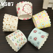 50Pcs/Bag Oven Paper Cake Cup Colorful Weding Party Birthday Baking Cups Decorating Tools Mini Muffin Cupcake Liner