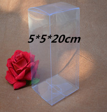 Qi Size:5*5*20cm 10pcs/lot Transparent Gift Display PVC Packaging Box Clear Plastic Pack Box For Cosmetic/Craft/Bottle/Jewelry