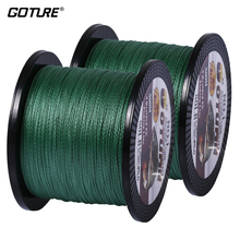 Goture 2pcs 500M PE Braided Fishing Line Multifilament 4 Strands Fishing Cord 12-80LB 6 Colors Available(China)