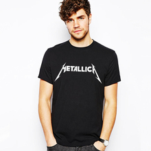 Heavy Metal Music 2017 Summer Mens Letter Print T-shirt Skateboard Street Metallica T shirt Male Tshirt Gray Black Rock Punk