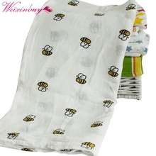 Newborn Baby Swaddling Blanket Infant Cotton Comfortable Muslin Swaddle Towel 120*120cm(China)