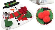 1pc Cute Smile Snowman Placemat+Red Napkins Christmas Dinner desk accessories Home Party Blended Cotton Dinnerware place Mat