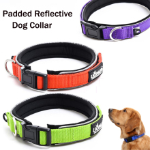 New Brand Durable and Strong Pet dog soft  Padded Reflective Collar for outdoor walking, running and hiking.