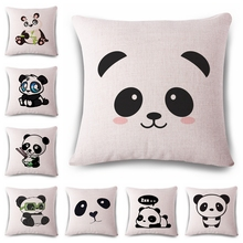 Another black panda Cushion(No Filler) Polyester Family affection Sofa Car Seat family Home Decorative Throw Pillow(China)