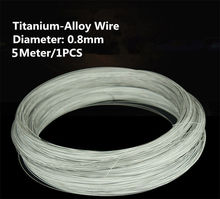 1PCS/5Meters TW002 Titanium-Alloy Wire 5Meter Diameter 0.8mm TA2 Titanium Wire Free Shipping Sell at a Loss Titanium Cable(China)