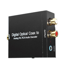 Digital Optical Coax to Analog R/L RCA Audio Decoder NK-Y2 Universal Device For Converting Coaxial Signal To Analog L/R