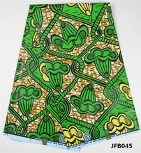 Factory price nigerian java wax fabric 6 yards wholesale african textiles real chiganvy wax fabric for women dresses JFB0039