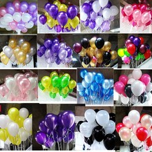 Pearl balloons 10 pc 10 Inch Thick 2.2 g Birthday Ballons Decorations Wedding Ballons Pink White Purple Globos Party Wholesale(China)