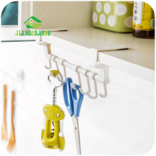 JiangChaoBo 1 Pc Door Towel Holder Rack Rail Cupboard Hanger Bar Hook Bathroom Kitchen Top Home Organization