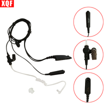 XQF Headset Acoustic Air Tube Earpiece Earphone PTT for Motorola GP328 GP338 GP340 GP380 Radio Walkie Talkie