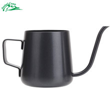 Jeebel 250mL Drip Coffee Kettle Mini-cup Coffee Pot Teapot Teflon Stainless Steel Slim Kettle Camping Cookware