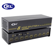 CKL 8 Port HDMI Splitter 1x8 HDMI Distributor Duplicator Support 1.4V 3D 1080P for PC Monitor HDTV Xbox PS3 PS4 Metal HD-98(China)