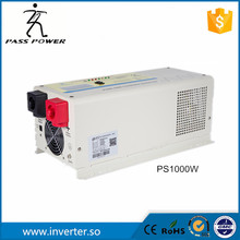 Factory selling ups system LCD display 50Hz 12v/24v 1000w dc to ac inverter charger inverter pure sine wave dc ac inverter(China)
