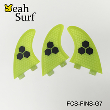 Surfboard Fin Large size Paddling Surf FCS G7 Fin Honeycomb LOGO Fiberglass Surf Board Fin 5 Colors Available