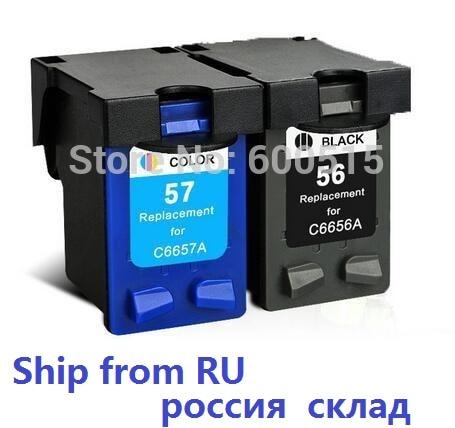 2pcs Compatible ink cartridge HP56 HP57 for Deskjet 450Ci 450Cbi 450wbt 5150 5550 5650 5652 9600 9650 9680 Officejet 4110 4255 <br><br>Aliexpress