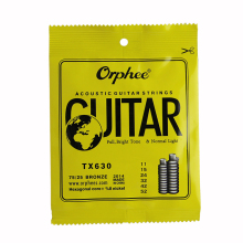 Orphee ACOUSTIC Guitar String  (011-052) Hexagonal core+8% nickel FULL,Bright tone&Normak Light