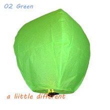 50pcs/lot Oval Shape Green Paper Flying Sky Lantern For Wedding Birthday Parties Celebrations Memorials Funerals Decoration