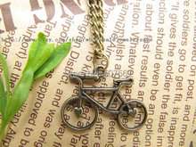 20pcs / lot Antique bronze bicycle necklace,bike necklace&bicycle pendant